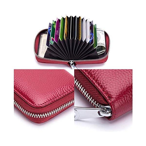 Meowoo Porta Carte di Credito Donna Uomo, RFID Porta Carte Credito Portafoglio Pelle Cerniera 12 Card slot e 2… 4 spesavip