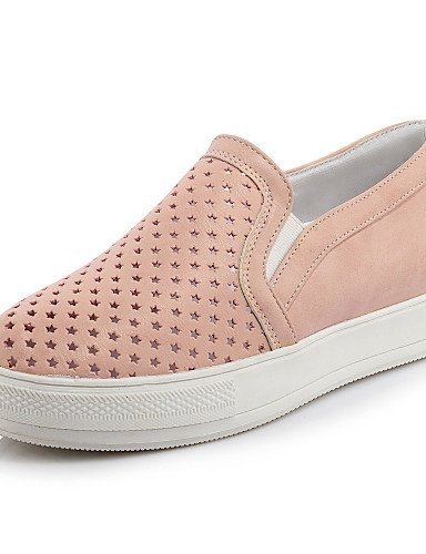 ZQ gyht Scarpe Donna-Mocassini-Casual-Punta arrotondata-Plateau-Finta pelle-Nero / Rosa / Bianco , pink-us11 / eu43 / uk9 / cn44 , pink-us11 / eu43 / uk9 / cn44 black-us6 / eu36 / uk4 / cn36