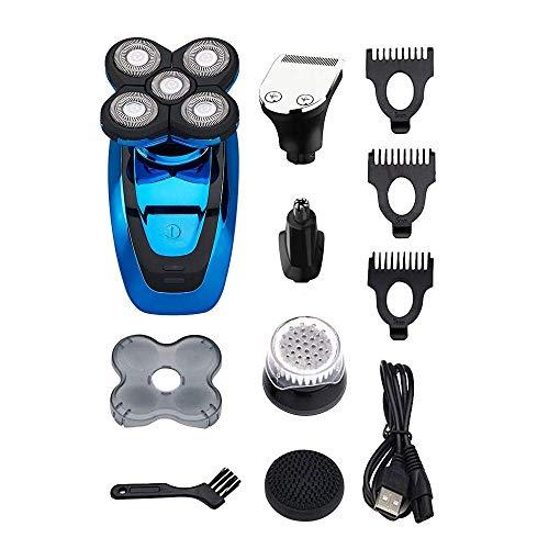 HIZLJJ Elektrorasierer Rasierer for Männer Bald Head Shaver 5 in 1 Kit Haarschneider Nasenhaarschneider, Haarrasierer for einen perfekten Bald Schauen Sie, Cordless und wasserdicht Schnelle USB auflad