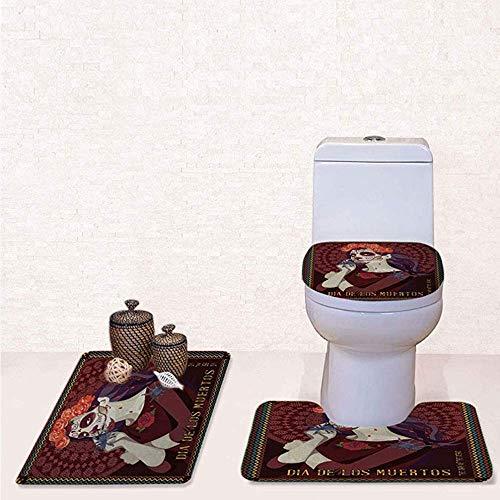 Pevv Wason Alfombra baño Lavable 3 Piezas Estampado