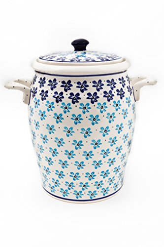 Original Bunzlauer Keramik Rumtopf 4.2 Liter / Mehrzwecktopf / Keramiktopf im Dekor 1111