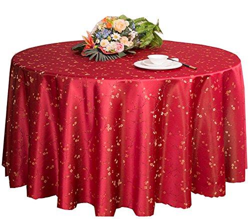 Hotels Hochzeiten Bankette Tischplatten Zubehör Runde Tischdecken Tischdecke Rot (200 * 200 cm)