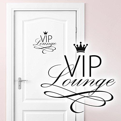 Grandora W5373 Wandtattoo WC Türaufkleber VIP Lounge