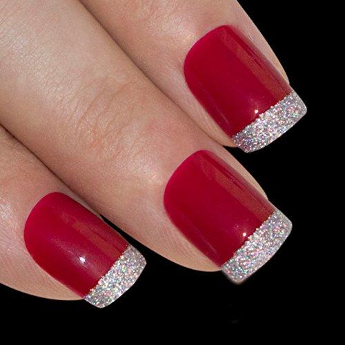 Art bling faux ongles français manucure rouge pour Danger Moyen Conseils UK