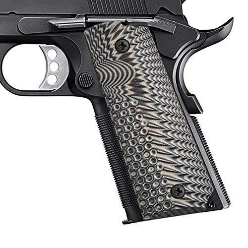 Guuun Colt 1911 griffschalen G10 Griffsichere Volle Größe Custom-Griff, Ambi-Sicherheitsschnitt OPS Eagle Wing Texture