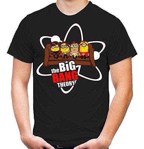 Big Bang Minions Sofa T-Shirt | Big Bang Theory | Ich Einfach Unverbesserlich | Minion | Minions | Banana | Fun | schwarz (S)