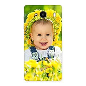 Delighted Laughing Baby Girl Back Case Cover for Redmi 2 Prime