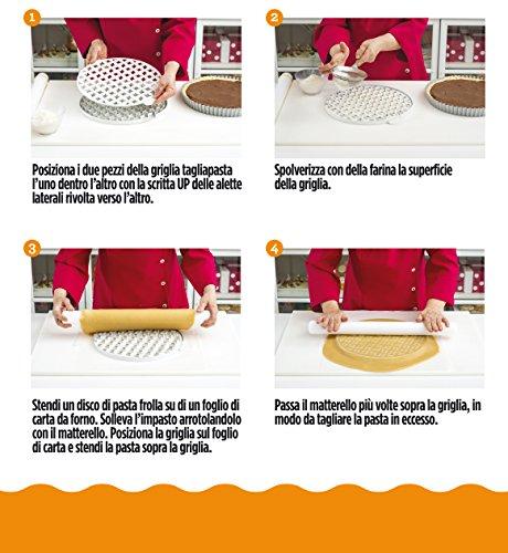 comprare on line DECORA 0215800 Griglia Tagliapasta per Crostate Arabesque, Acciaio Inossidabile, Bianco, 30 x 30 x 3 cm prezzo