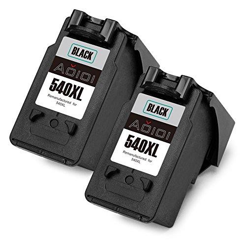Aoioi PG-540 (2 Nero) Remanufactured Cartucce Canon PG-540XL Compatibili per Canon Pixma MG3650 MG4250 MX475 MX535 MG3550 MG3500 MG3250 MG3600 MX375 MX435 MX515 MX525 MX395