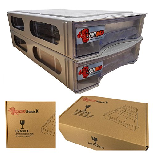 Papimax briques Boîte de Rangement empilable 15 compartiments standard( blanc) âge 6+