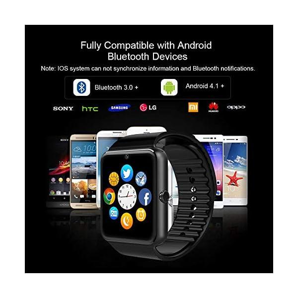 Reloj Inteligente, Smartwatch Bluetooth y Ranura para Tarjeta SIM con Rastreador de Actividad, Podómetro, Cronómetros Reloj de Fitness, Reloj Iinteligente Hombre Mujer niños Android/iOS Phone 12