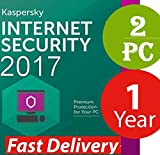 #8: Kaspersky Internet Security 2018 / 2017 Licence Key For 2 User / 2 PC / 1 Year (NO CD)