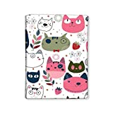 Nutcase Designer Passport Cover Holder Travel Wallet Case made from high-quality Polyfabric & PU leather -�Cute Cats
