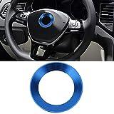 SENZEAL 2015 2016 2017 2018 Golf 7 Lenkrad Ring Logo Aufkleber Lenkradbezug Auto Alumlegierung Dekorativer Ring Blau