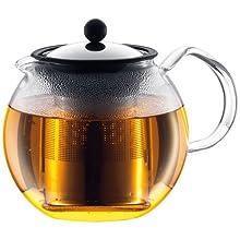 Bodum ASSAM Tea Press, Permanent Filter, Glass Handle, 1.5 L/51 oz) - Shiny