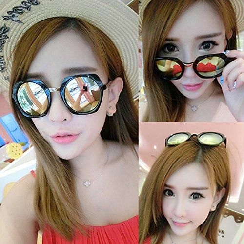 neue runde sonnenbrillen, lady, rundes gesicht, koreanische retro - augen - brille, personalisierte sonnenbrille, die flut,die black box des goldes film (bag)