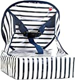 Baby-To-Love Easy Up, Chaise Haute Pour Bébé, Rehausseur Chaise Enfant, Rehausseur Nomade Bébé (Blue Stripes)