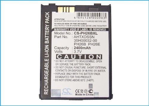 CS-PH26BXL Akku 2400mAh Kompatibel mit [DOPOD] 700, [QTEK] 9060, 9090, [HTC] Blue Angel, Gemini, Harrier, [ERA] MDA III, [T-Mobile] MDA iii, [E-Plus] PDA III, [I-Mate] PDA2K, PDA2K EVDO, [AUDIOVOX] P Audiovox Pda