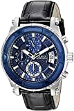 Guess Hombre u0673g4Cronógrafo Reloj con Iconic esfera azul y funciones de fecha