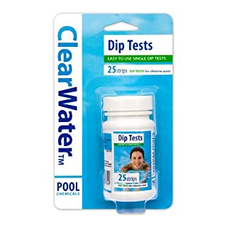 Clearwater CH0012 25 Dip Test Strips for Swimming Pool and Spa Treatment