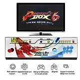 WISAMIC Pandora's Box 6 Arcade Console - Aggiungi Giochi aggiuntivi, Giochi 3D di Supporto, Full HD, Classificazione Giochi, CPU Potenziata, Nessun Gioco Incluso (Design a 6 Pulsanti)