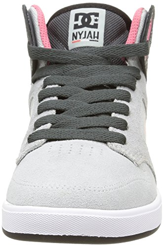 DC Shoes Nyjah High Se, Sneakers Hautes femme Gris (Grey/Black)