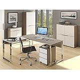 MAJA Büromöbel Komplettset Komplettes Arbeitszimmer YAS in Glas sand matt