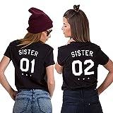 Description du produit:   Sister0102 imprimé en shirt indique l'importance suprêmela meilleure amie est comme une sœurmontre une amitié plus étroite.   C'est le meilleur cadeau pour votre bonne amie ou maman acheter à leurs filles.   Matière: 100%...