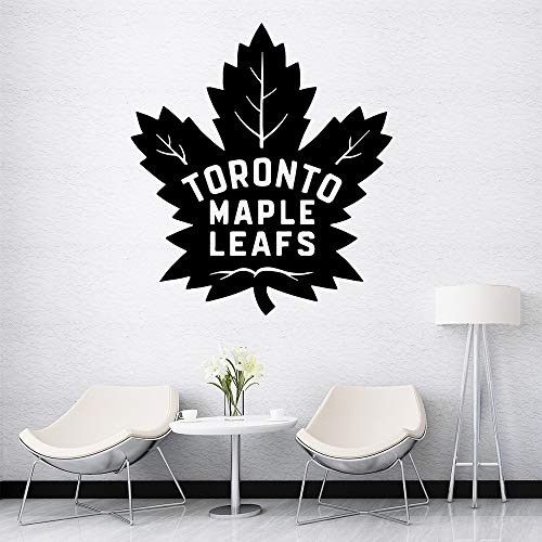 Kreative Toronto Maple Leafs Cartoon Wandtattoos Pvc Wandkunst Diy Poster Für Kinderzimmer Wohnzimmer Wohnkultur Wandkunst Aufkleber Braun 43 * 48 CM -