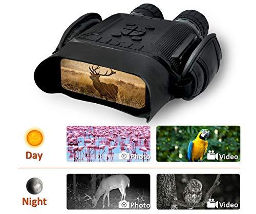 Jumelle Vision Nocturne Scope pour La Chasse 7x31mm avec 2 Pouces TFT LCD HD Infrarouge Caméra Caméscope 400M Plage De Vision avec Carte mémoire 32G HD 2592 * 1944 Image et vidéo 1280 * 720 avec Son