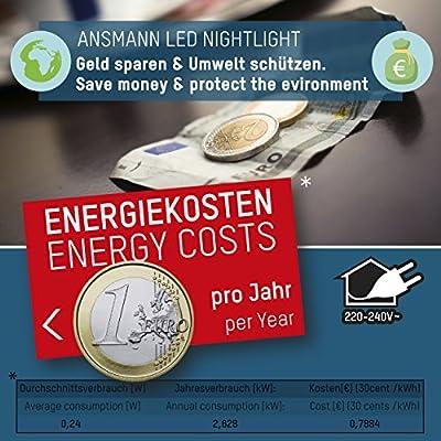 ANSMANN LED Nachtlicht in weiß mit integriertem AN/AUS Schalter