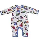Powell Craft 100% Cotton Vintage Transport Design Baby Boys Jumpsuit / Romper Size 0-6 Months