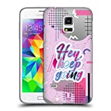Head Case Designs Keep Going Retro Wave Zitate Ruckseite Hülle für Samsung Galaxy S5 Mini