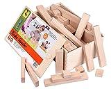 CreaBLOCKS Holzbausteine Ergänzungspaket flache Quader