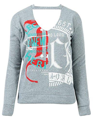 Generic - Sweat-shirt - Femme Gris