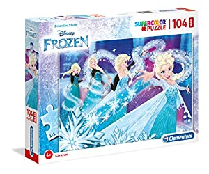 Clementoni Supercolor puzzle-frozen-104Piezas Maxi, 23729