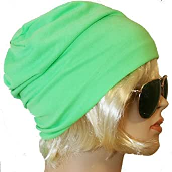 Slouch Beanie XXL-Style, Neon-Grün