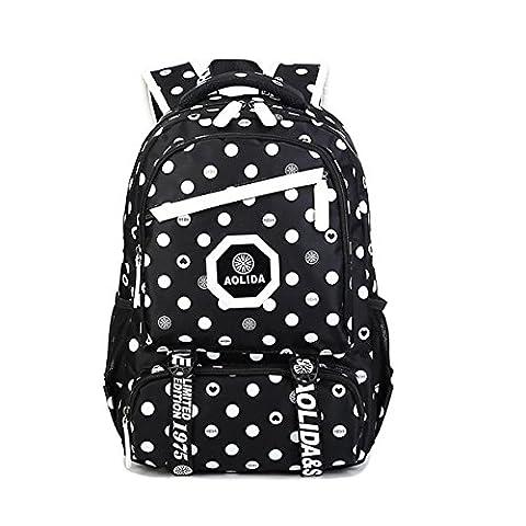 Wasserdichter Schulrucksack Schulranzen Schultasche Sports Rucksack Freizeitrucksack Daypacks Backpack für Mädchen Jungen Kinder Damen Herren Jugendliche mit der Großen Kapazität-Dunkles