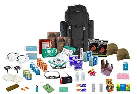 Survival Aids Go Bag Kit de survie de 72heures pour 2personnes