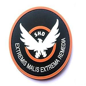 Aquiver Correctifs de jeu en caoutchouc The Division SHD Ailes Out badge Moral en PVC Airsoft Patch