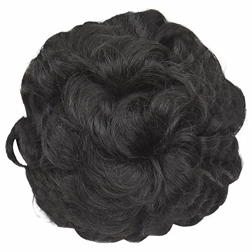 Out Of Box Funky Bun 4 inch Hair Extension(Natural Black)