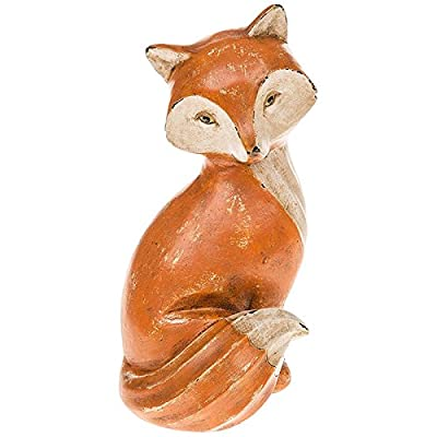Rustic Shabby Chic RED FOX Woodland / British Wildlife Figure / Ornament - SItting - 20cm