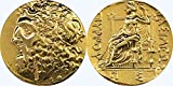 Golden Artifacts Zeus Coin, King of The Gods & Dione, Greek Mythology, Percy Jackson Teen Gift, Percys Uncle. (10-G)