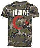T-Shirt Türkei Camouflage Army WM 2018 .- Vintage Destroy Wappen D01 (L)