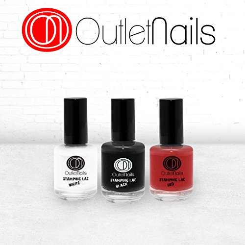 Pack 3 Stamping Lac/Stamping Lac 15ml / Red + White