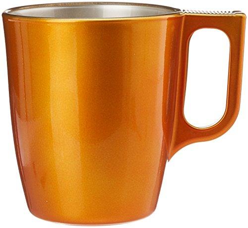 Luminarc 8010793 Flashy Color Lot de 6 Mugs Plastique/Polypropylène Doré 10,4 x 7,6 x 9,19 cm