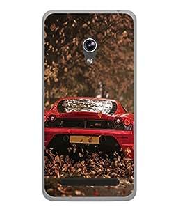 PrintVisa Designer Back Case Cover for Asus Zenfone 5 A501CG (Super Fast Car In Red Design)