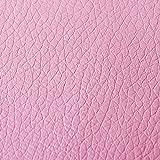 Russo Tessuti Tessuto Ecopelle Tappezzeria Nuovo Antimacchia Resistente x Esterni 0.5x1.40 mt-Rosa