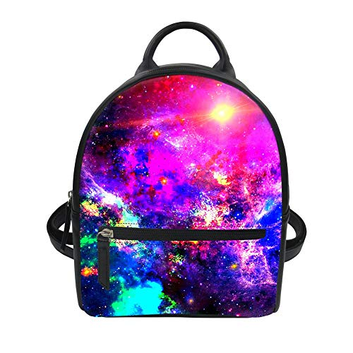 Robuster Schulter Mini Rucksack College Student School Bagpack Dailypack (Color : Galaxy-5, Size : -)