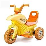Lvbeis Kinder Elektro Motorrad 6 Volt Akku Motorcycle Kindermoped Kleinkinder Motocross,Yellow